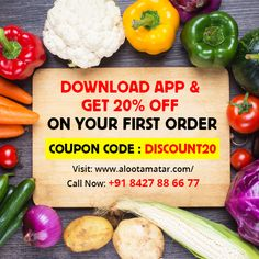 Now #download our #app & get 20% discount on your first order. coupon Code: #DISCOUNT20  For more info visit us @ www.alootamatar.com  Download app through play store & iTUnes:  #Play_Store: https://play.google.com/store/apps/details?id=com.alu_tamatar #iTunes: https://itunes.apple.com/in/app/alootamatar/id1054375341?mt=8