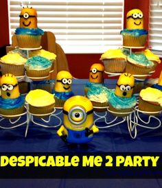 Check out these adorable cupcakes and DIY cups that are perfect for your kids Despicable Me 2 Party!