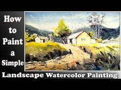 watercolor landscape painting demonstration: how to paint a mountain landscape for begginers Watercolor Landscape Tutorial, Watercolor Landscape Paintings, Mountain Landscape, Cornwall, Brushes, Craft Projects, Youtube, Art, Art Background