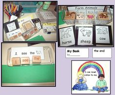 The Stamp and Read Skinny Book tote may be as simple or comprehensive as the teacher has time to organize. This book making activity is a powerful confidence builder for young readers and writers. For stamp resources, see http://www.nellieedge.com/pdf/2012/great-drawing-writing.pdf.