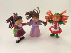 Vintage-McDonalds-Happy-Meal-Toys-Cabbage-Patch-Kids-Lot-Of-Three-90s
