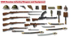 Imperial Russian Army. WW1. Weapons & Equipment.
