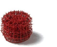 Bettina Dittlmann - Brooch (2009). Iron binding wire and enamel. Picture from http://collections.vam.ac.uk