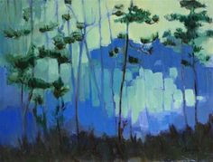 """""""Blue Evening Pines"""" - Angela Ooghe"""