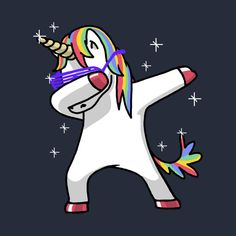 Check out this awesome 'Dabbing+Unicorn+Shirt+Dab+Hip+Hop+Funny+Magic' design on @TeePublic!