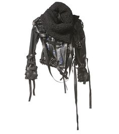 A black knitted snood over the denim studded biker jacket from Amazon would look cool as fuck.