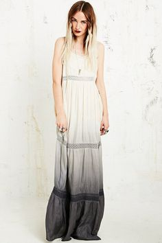 Pin for Later: Perfect Maxi Dresses For Lazy Spring Days  Kimchi & Blue tiered black and white maxi dress (£75)