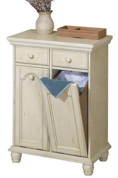 Harwick Tilt-Out Laundry Hamper with 2 Drawers : Bath : Laundry Hampers