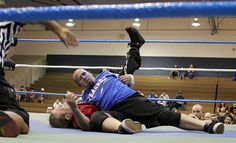 Fillmore Little League Wrestling Fundraiser. Joey Golson of Fillmore pinned down his opponent during the main event at the Fillmore Little League Wrestling fundraiser