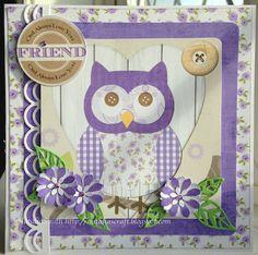 Birthday card for a friend, Debbie Moore cd-rom owls