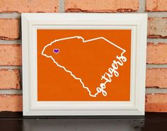GO TIGERS! College Pride Wall Art - Artwork - Clemson Fighting Tigers - Clemson University - Orange and Purple - Man Cave Artwork - College Decor - UNFRAMED Poster Print - Chalkboard Finish. Looking for a fun piece of art for your dorm room, office or man cave? This is it! - GO TIGERS! College Pride Wall Art - Artwork - Clemson Fighting Tigers - Clemson University - Orange and Purple - Man Cave Artwork - College Decor - UNFRAMED Poster Print - Chalkboard Finish.