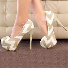 Attractive Multi-color PU Basic Round Closed Toe Stiletto Heel Super High Heel Pumps