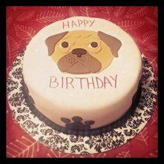 Birthday pug cake #pugcakes #pugs #pugsofinstagram #dog #dogcakes…