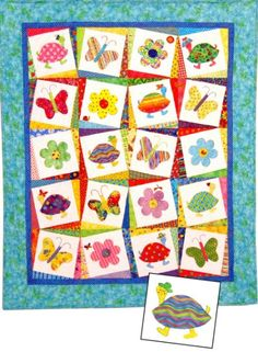 I'm loving this one - it's fun, butterflies and great colors!    http://www.ericas.com/applique/48597b.jpg