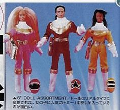 Rare Power Rangers Zeo dolls