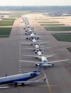 O'Hare airport, Chicago. 'the line-up'