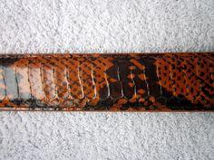 Dark Orange Genuine Snakeskin High Quality Fashion Dress BELT NWOT