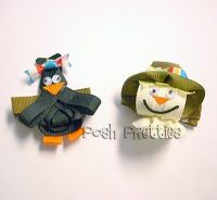 scarecrow ribbon hair bows - Google Search