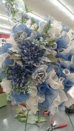Deco mesh wreaths by Rhonda