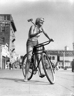 vintage cycling fun cycling