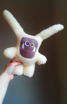 Winter fur Bugs. A plush stuffed monster by MonsterOrphanage, £28.00 Cute stuff for kids
