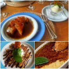 Restaurante Aprazível - RJ | Sobremesas: Tarte-Tartin, Banana Santa Tereza e Crème Brûlée.