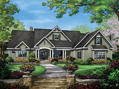 EPlans Craftsman Style House Plan U2013 Awesome Ranch U2013 2863 Square Feet And 4  Bedrooms From