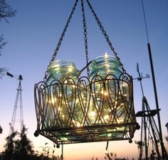 Shabby chic outdoor chandelier