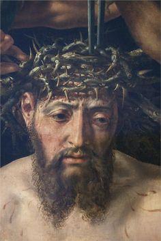 Maarten van Heemskerck (1498–1574). Christ Crowned with Thorns, detail, 1550. Oil on panel transferred to canvas. 99 × 138.5 cm (39 × 54.5 in). Haarlem, Frans Hals Museum.
