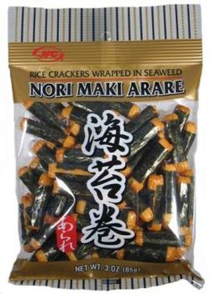 JFC Nori Maki Arare rice crackers wrapped in seaweed 3 Oz *** Check this awesome product by going to the link at the image-affiliate link. Asian Recipes, Gourmet Recipes, Snack Recipes, Japanese Snacks, Japanese Food, Pearl River Mart, Tasty, Yummy Food
