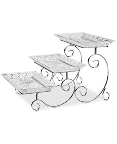 Godinger Dublin 3 Tier Server Reviews Serveware Dining Macy S Tiered Server Tiered Stand 3 Tier Server