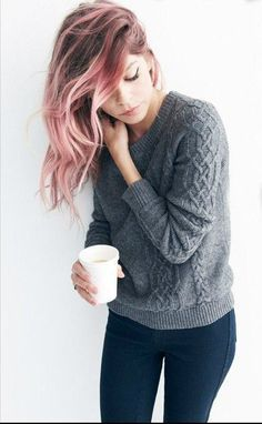 Image result for rose gold hair ombre