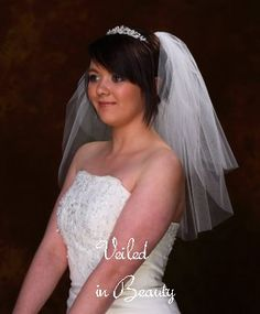 1000 Images About Shoulder Length Wedding Veils On Pinterest
