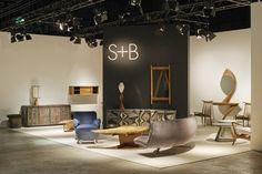 Design Miami/Basel - O Espaço da Galeria Sebastian + Barquet destaca móveis com aparência orgânica e artesanais