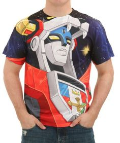 ebbaf4d23c1 This Voltron Space Face Sublimated T-Shirt is THE tee you need for fighting  some epic baddies.