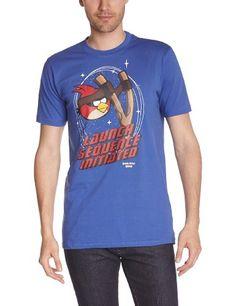 Angry Birds - Camiseta con cuello redondo de manga corta para hombre #camiseta #starwars #marvel #gift