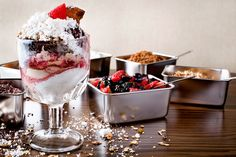 Naptime Sundae at Radiator, Washington, D. Cinnamon Ice Cream, Vanilla Ice Cream, Heath Bar Cookies, Chocolate Crunch, Heath Bars, Rainbow Sprinkles, Cookie Crumbs, Blue Berry Muffins