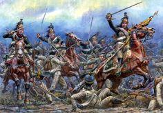 Carica dei dragoni francesi contro la fanteria austriaca
