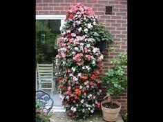 Virágtorony sajátkezüleg - YouTube Strawberry Planters, Wordpress, Outdoor Structures, Make It Yourself, Plants, Youtube, Decor, Garden, Vertical Gardens