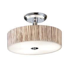 18-in Polished Chrome Clear Glass Semi-Flush Mount Light - Lowes $65