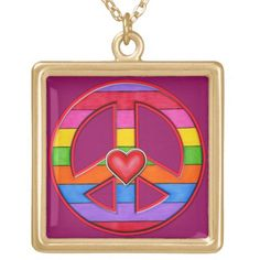 Rainbow-Striped Peace Sign Gold Plated Necklace Emo, Gypsy, Peace Sign Necklace, Tumblr, Gold Plated Necklace, Valentine's Day Diy, Diy Costumes, Halloween Diy, Halloween Drinks