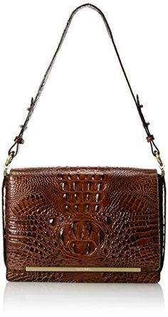 Brahmin Hudson Shoulder Bag, Pecan, One Size Brahmin