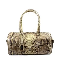 Magnetic Lock, Extra Storage, Leather Interior, Python, New Product, Snake Skin, Campaign, Beige, Luxury