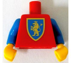 LEGO Minifig Torso with Crusaders Gold Lion with Red Tongue Decoration with Blue…