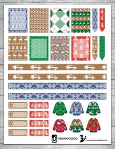 I know it's Christmas week! I know you probably already have your weekly layout done! BUT just in case you still need some finishing touches, here is a fun printable! Free Planner, Happy Planner, Hourly Planner, Planner Ideas, Filofax, Ugly Christmas Sweater, Ugly Sweater, Printable Planner Stickers, Free Printables