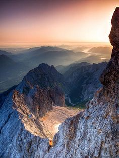The Zugspitze is the highest mountain in Germany. What A Wonderful World, Beautiful World, Beautiful Places, All Nature, Amazing Nature, Places Around The World, Around The Worlds, Landscape Photography, Nature Photography