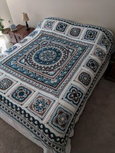 [Easy] Double Diamond Blanket Crochet Pattern | Patterns Valley