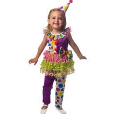 Toddler girl clown outfit