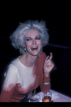 Carmen Dell'Orefice, Studio 54, 1986.