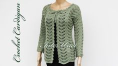 Learn how to crochet tie front lace sweater with sleeves.. Crochet, Pattern, Crochê, Lace, Card, Cardigan,